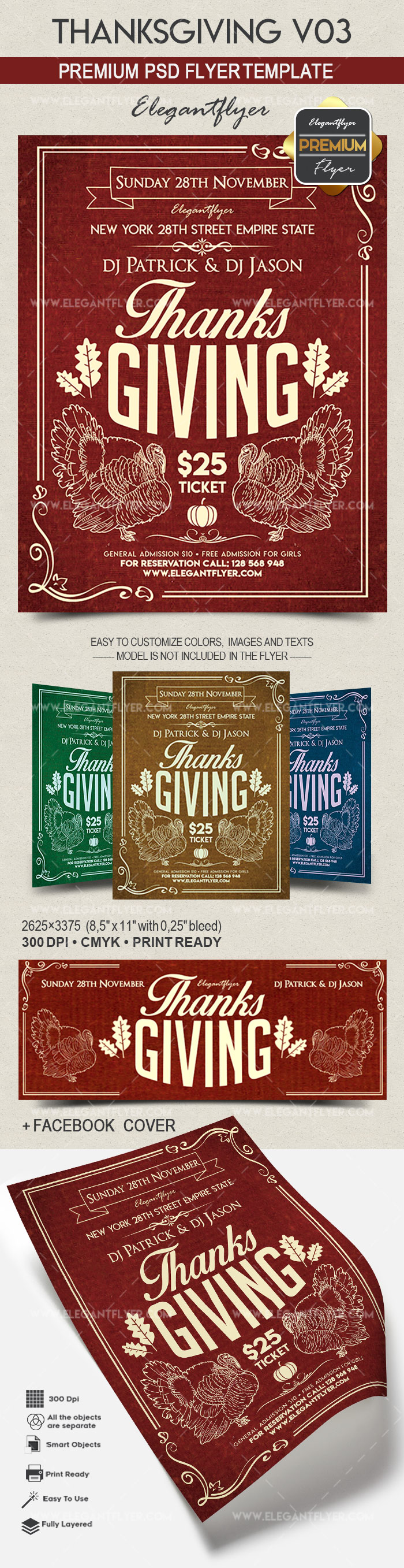 Thanksgiving V03 – Flyer PSD Template