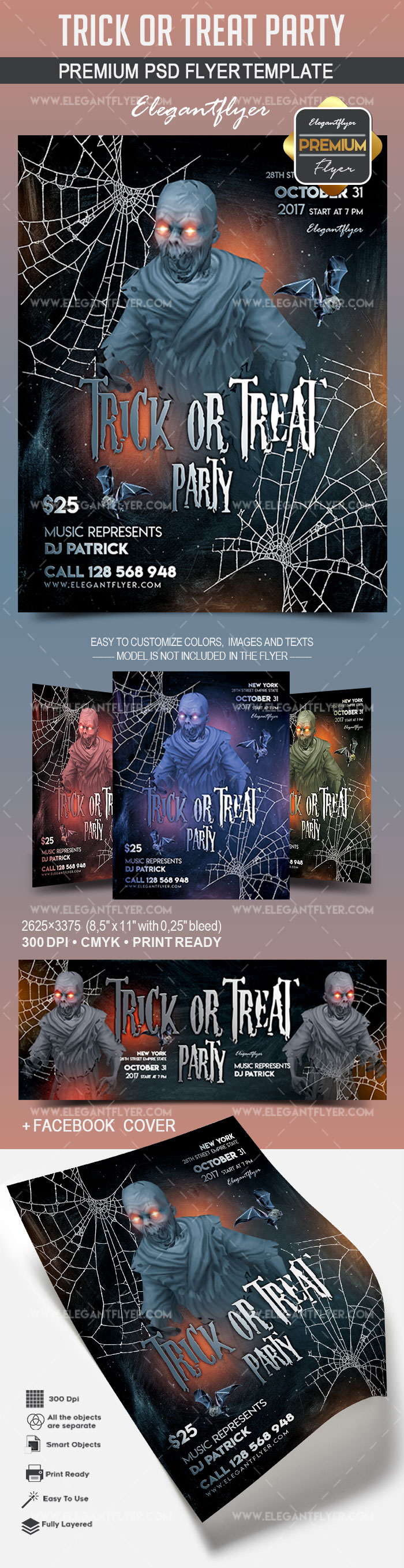 Trick or Treat Party – Flyer PSD Template