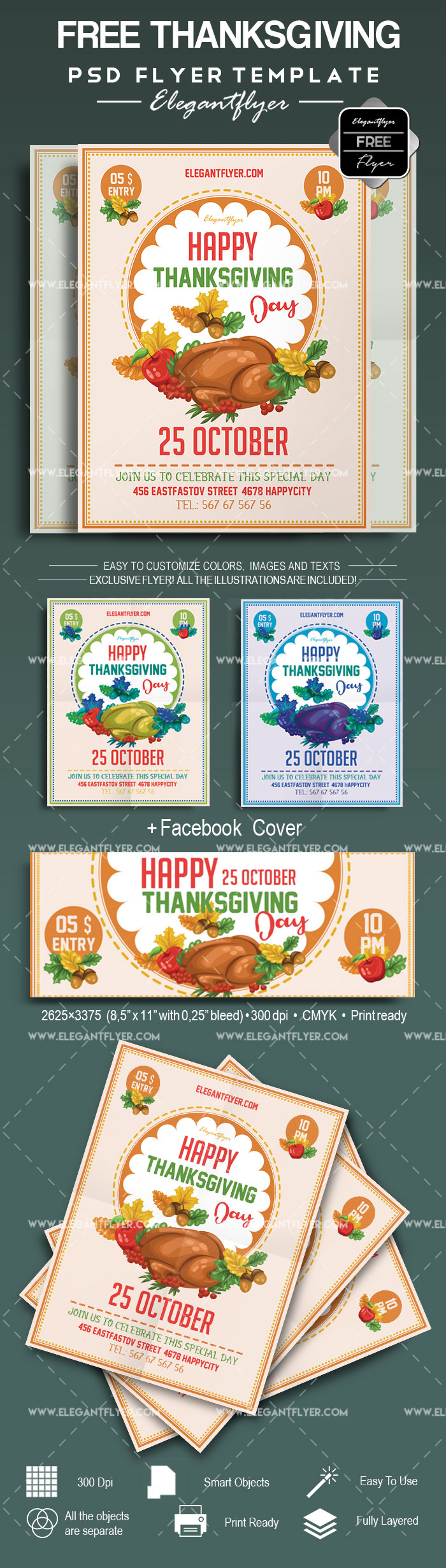 Free Happy Thanksgiving Day PSD Poster