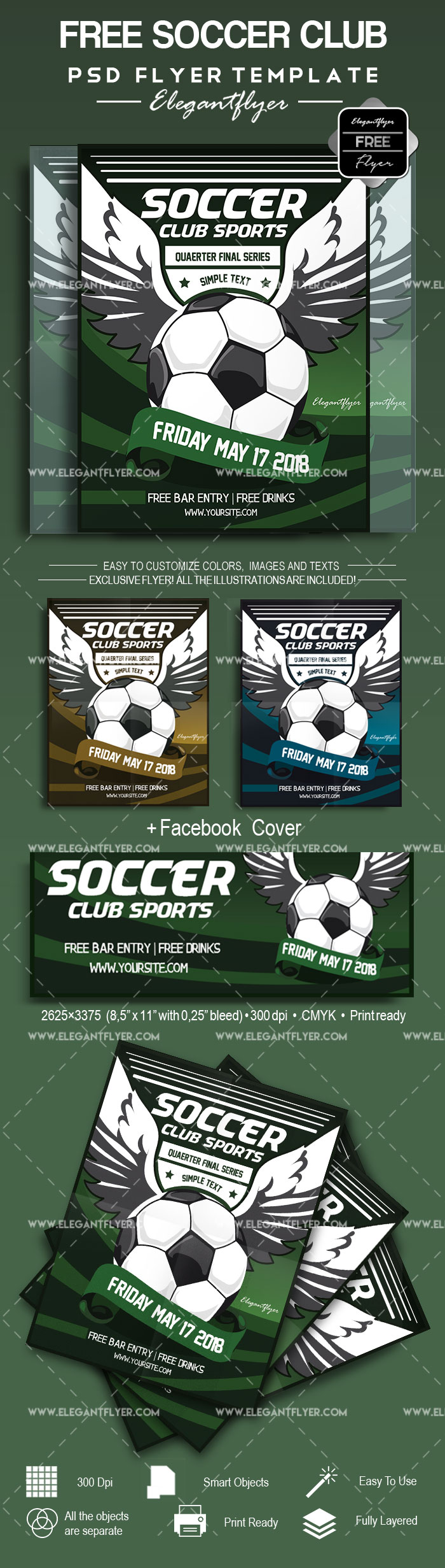 Soccer – Free Flyer PSD Template