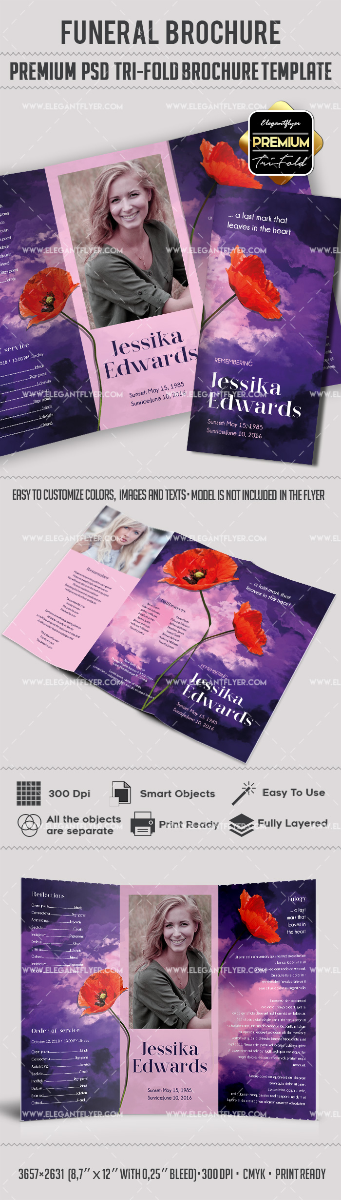 Flowers Funeral PSD Templates