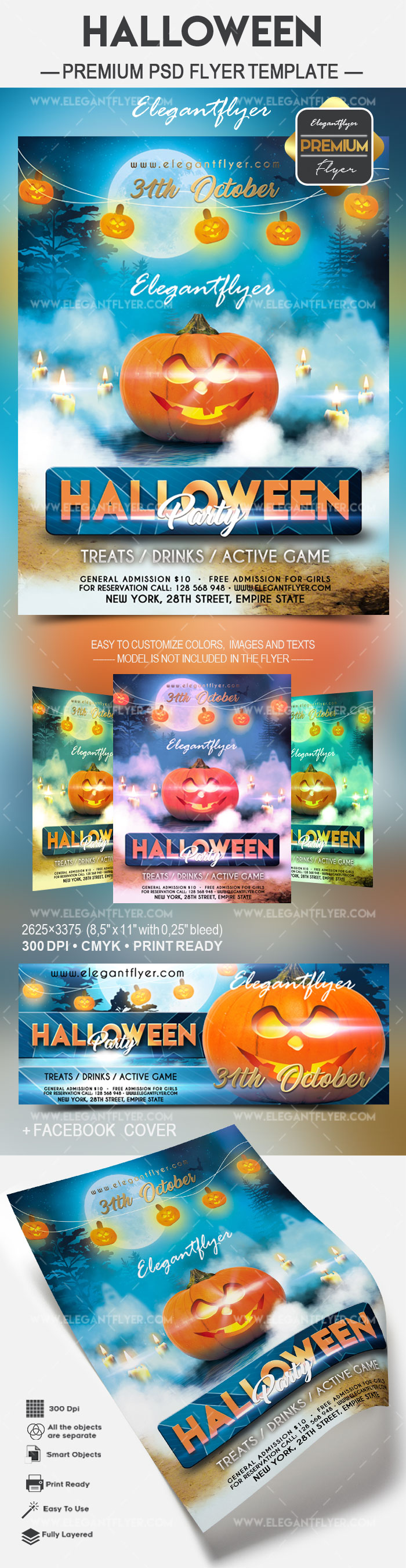 Halloween party 2017 – Flyer PSD Template