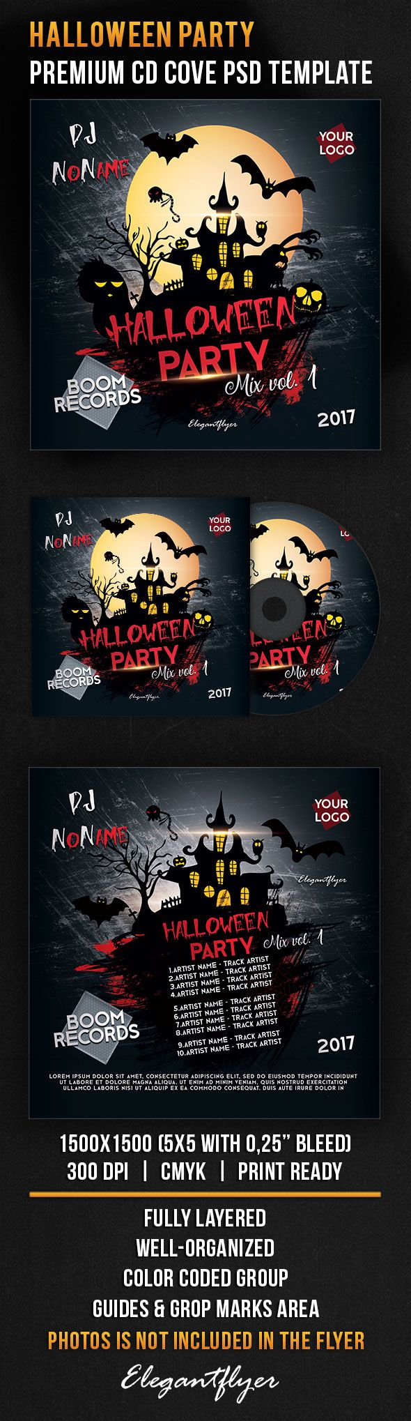Halloween Party – Premium CD Cover PSD Template