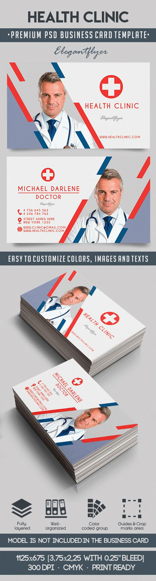 Health Clinic – Premium Business Card Templates PSD