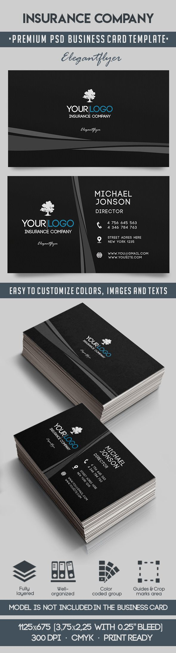 Business Card for Insurance Company