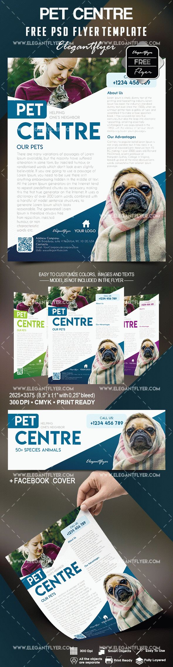 Free Pet Centre Flyer Template