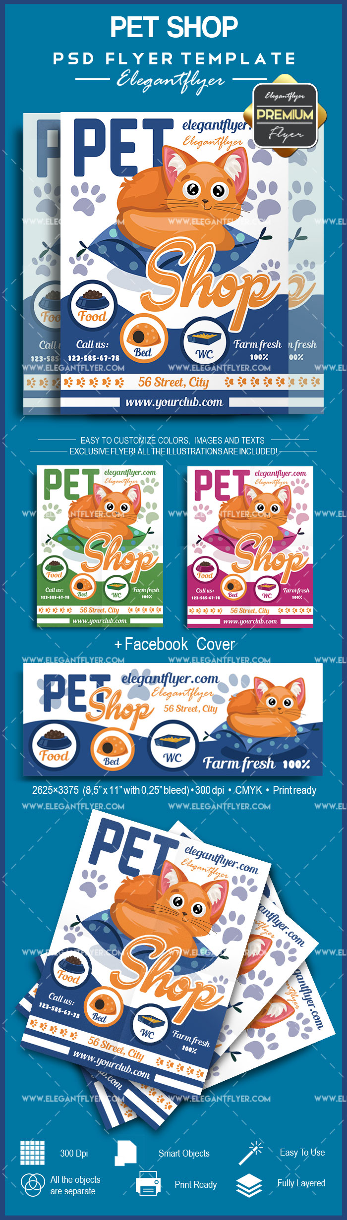 Pet Shop – Flyer PSD Template