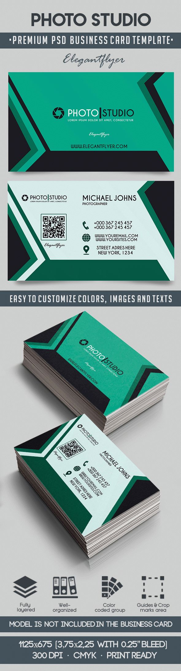 Photo Studio – Premium Business Card Templates PSD