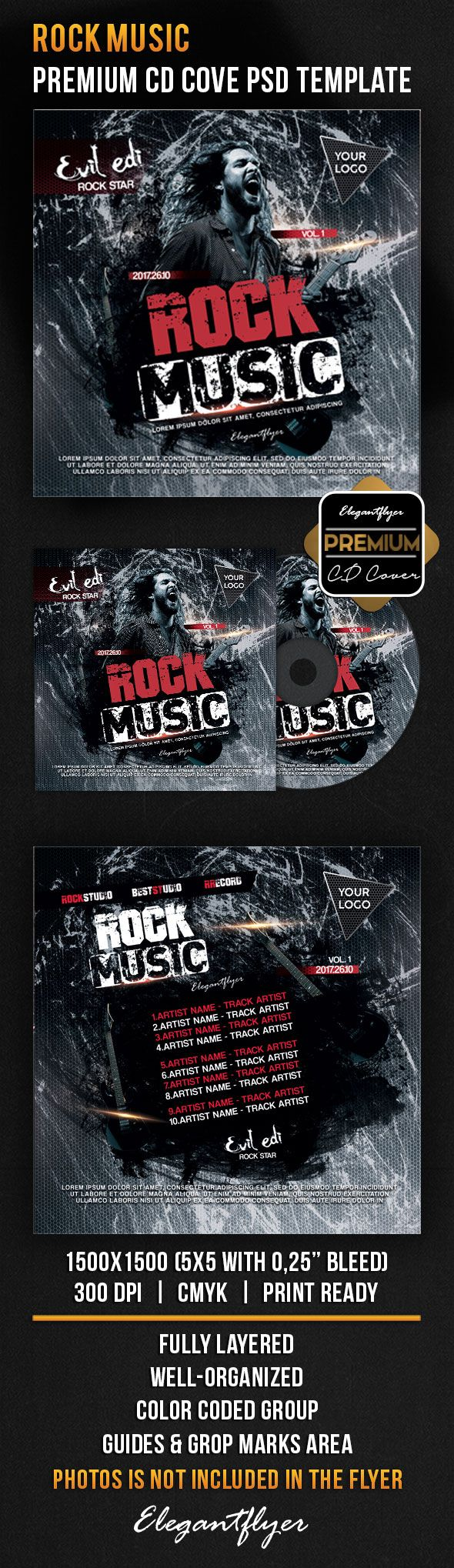 Hard Rock Music Cd Cover