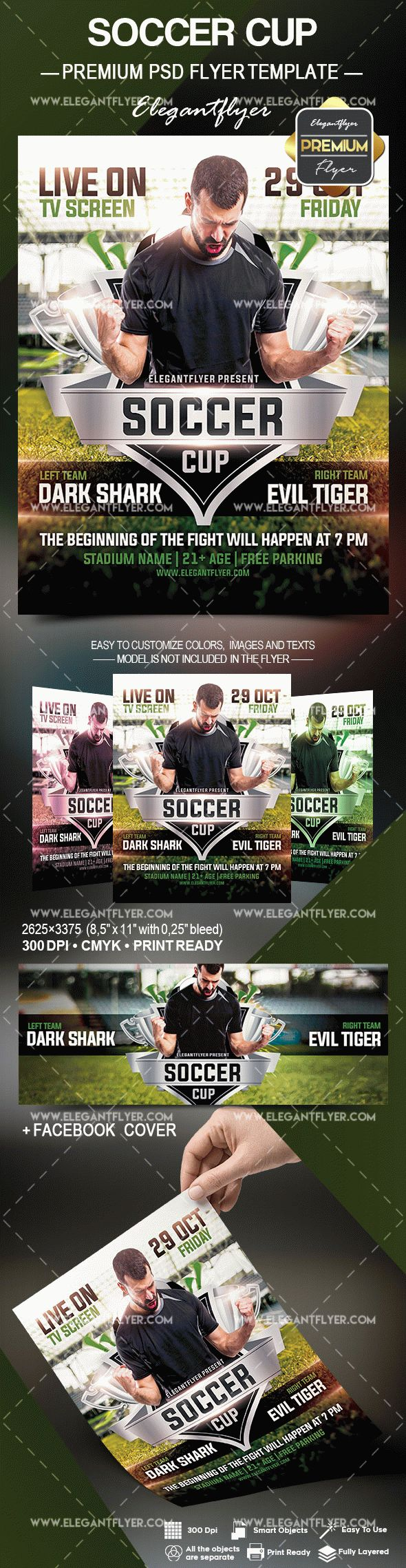 Soccer Cup – Flyer PSD Template