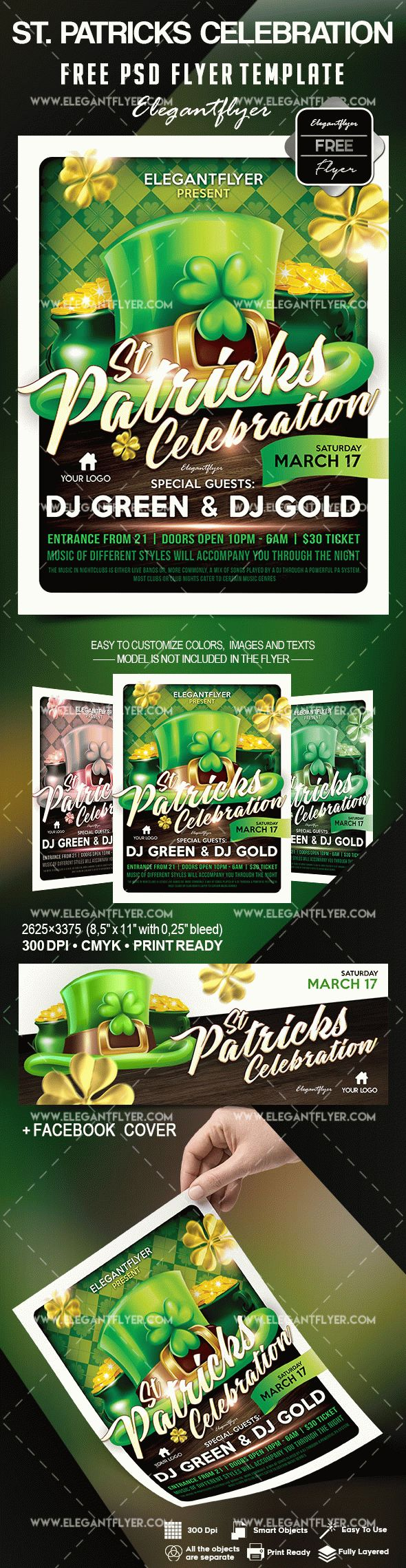 free st  patricks celebration flyer template  u2013 by elegantflyer