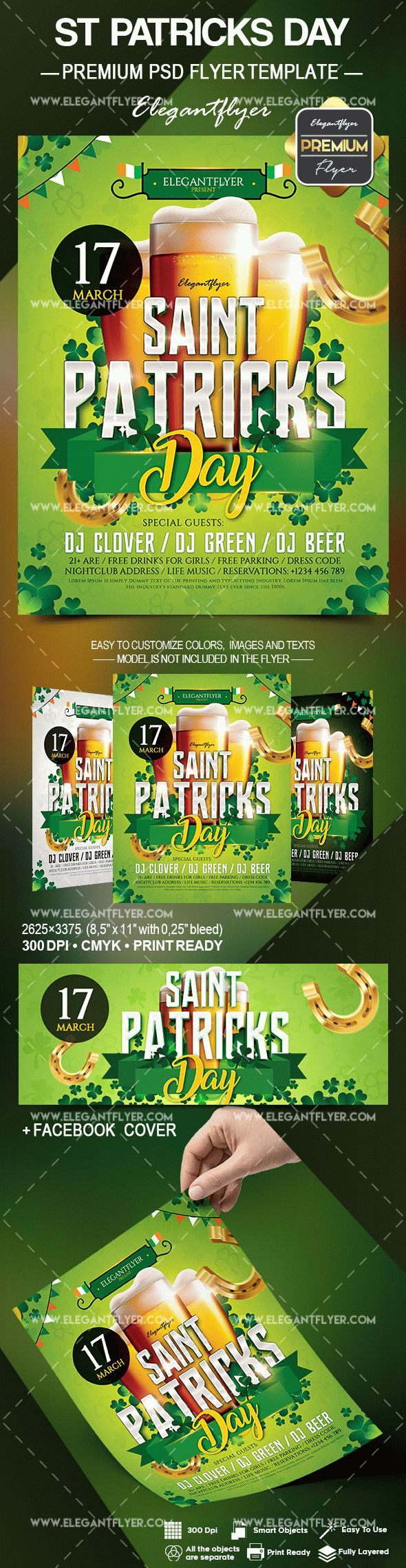 happy st  patrick day psd poster  u2013 by elegantflyer