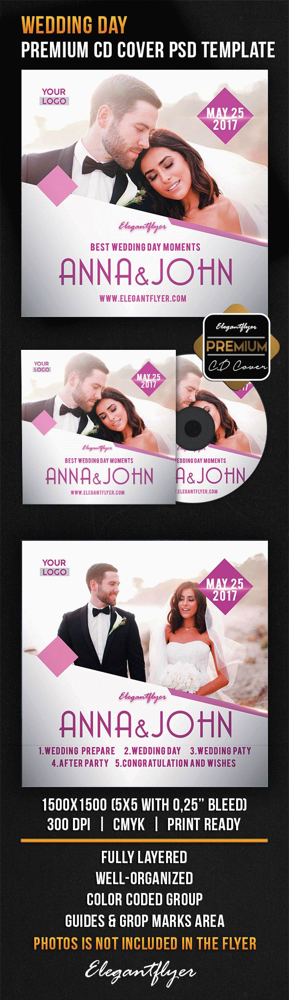 Wedding Day CD Cover in PSD