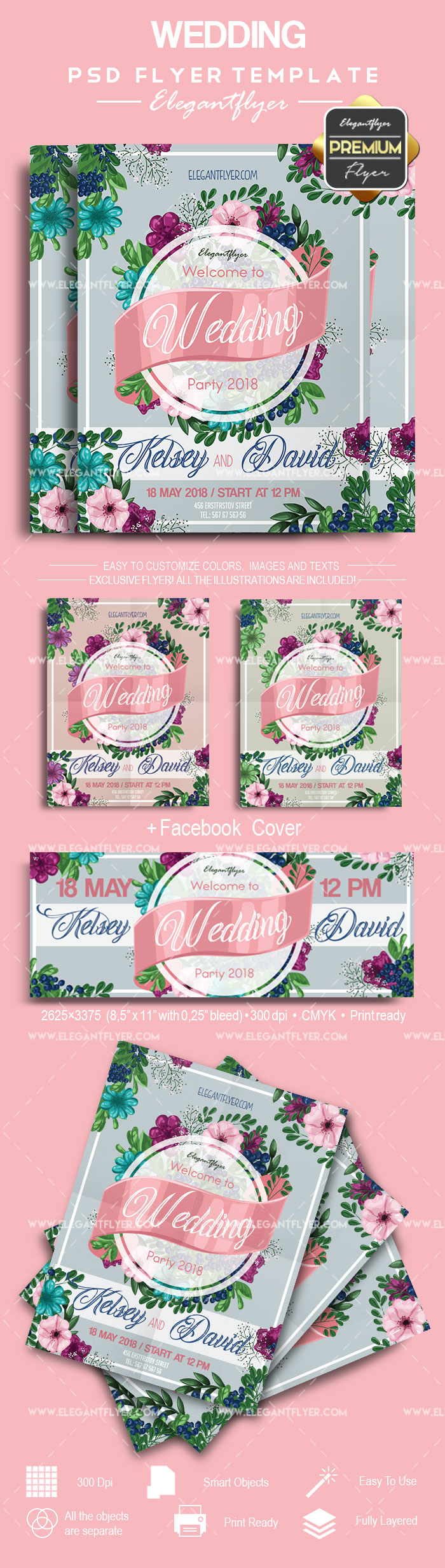 Flyer for Wedding Bouquet