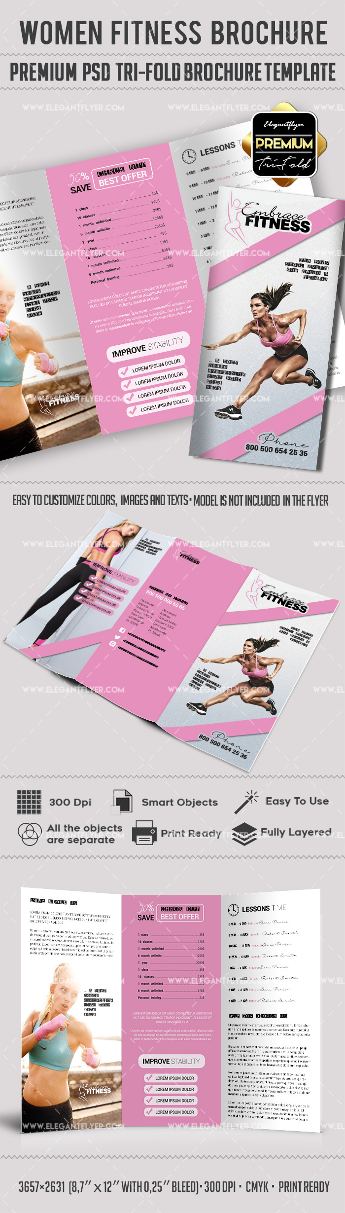Brochure for Women Fitness Template