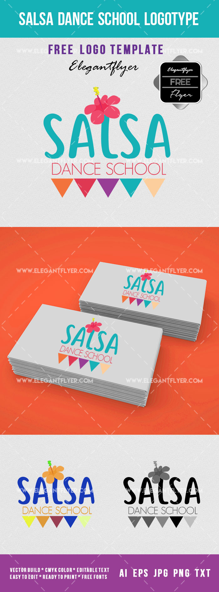 Salsa Dance School Logotype – Free Logo Template