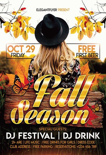 Fall Season – Flyer PSD Template