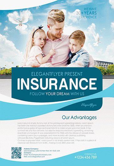 Flyer For Family Insurance