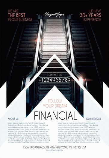 free financial flyer template  u2013 by elegantflyer