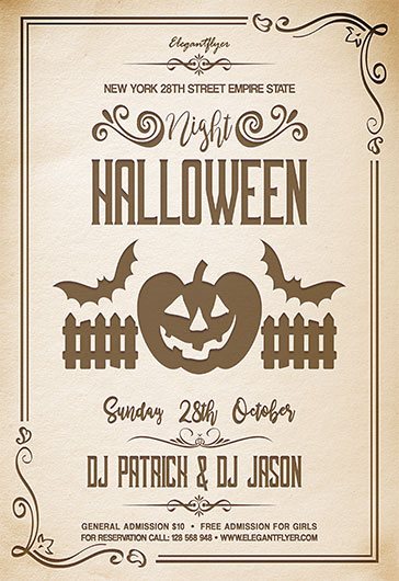 Halloween Night V02 – Flyer PSD Template