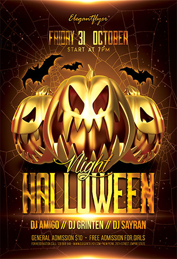 Halloween Night V04 – Flyer PSD Template