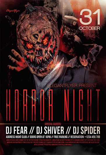 Horror Zombie Night Flyer Template