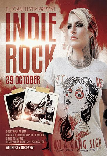 Free Indie Rock Flyer Templates