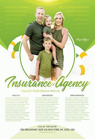 free insurance flyer template  Free Insurance Agency Flyer Template – by ElegantFlyer