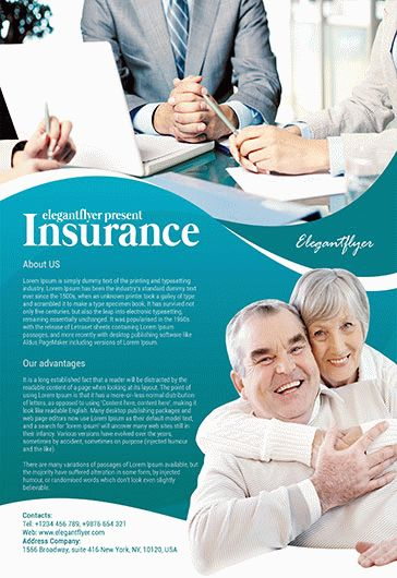 Insurance Flyer PSD Template
