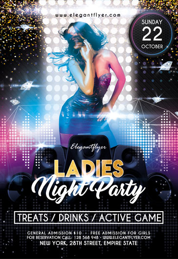 ladies night 2017  u2013 flyer psd template  u2013 by elegantflyer