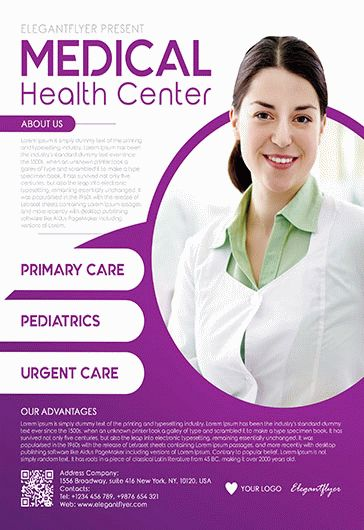 medical health center flyer psd template by elegantflyer