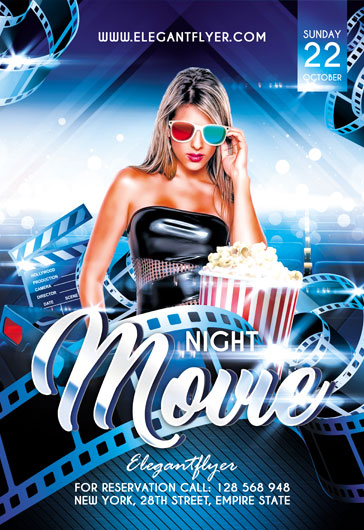 Party for Movie Night Flyer