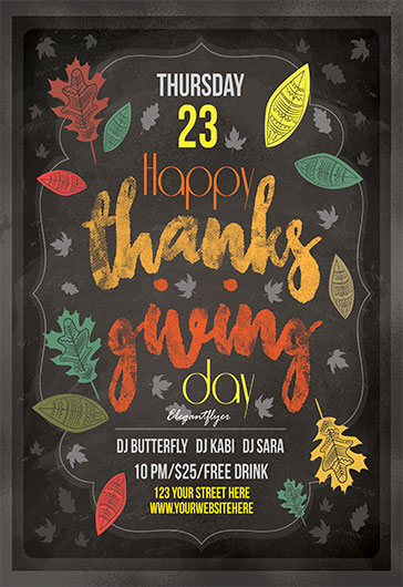Thanksgiving Day Parade PSD Template