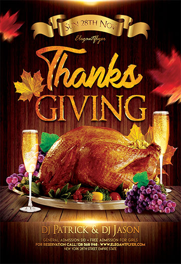 Thanksgiving Celebration – Flyer PSD Template