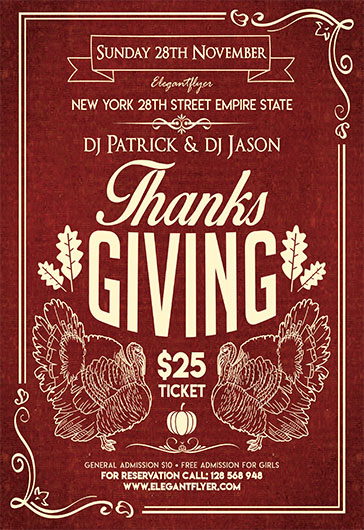 Thanksgiving Day V03 – Flyer PSD Template