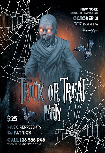 Halloween Party V03 – Flyer PSD Template