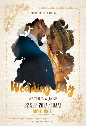 Wedding Day – Flyer PSD Template