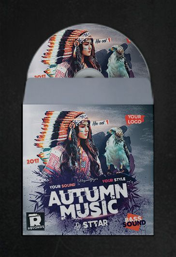 Autumn Music – Premium CD Cover PSD Template