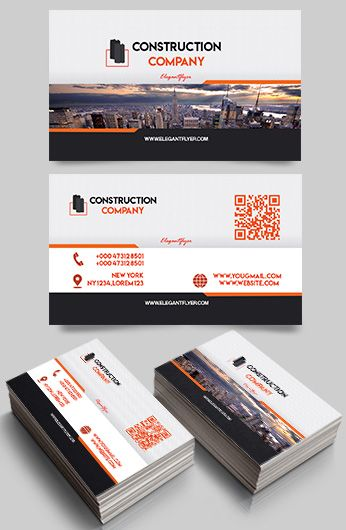 Construction Company PSD Business Card