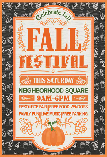 free fall festival flyer templates psd by elegantflyer
