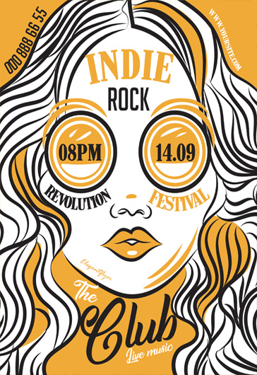 Indie Rock – Free Flyer PSD Template