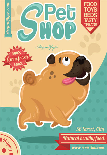 pet shop free flyer template  u2013 by elegantflyer