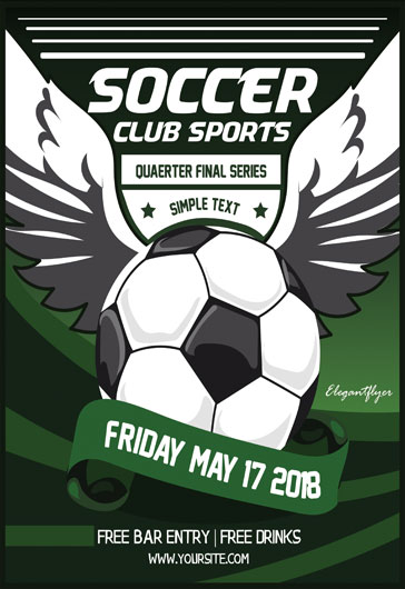 Free Soccer Flyer Templates For Photoshop  By Elegantflyer
