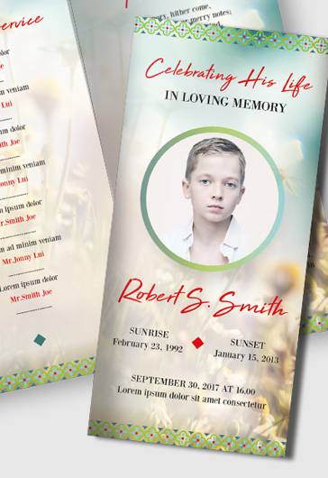 Funeral Program Templates  By Elegantflyer