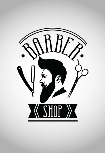 barber shop logotype  u2013 premium logo template  u2013 by elegantflyer