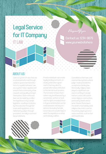 Legal Service Flyer Template