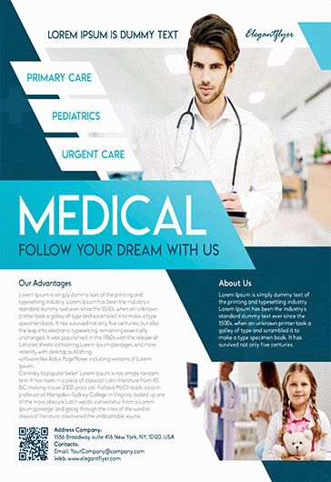 free medical health flyer template by elegantflyer