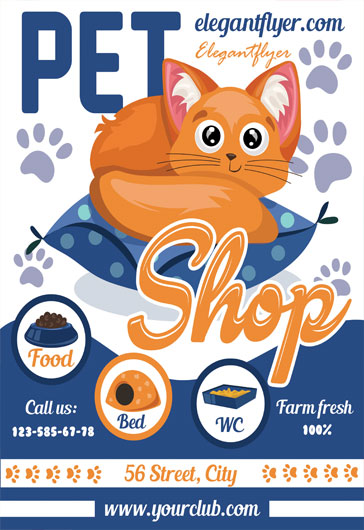 Pets Shop – Flyer PSD Template