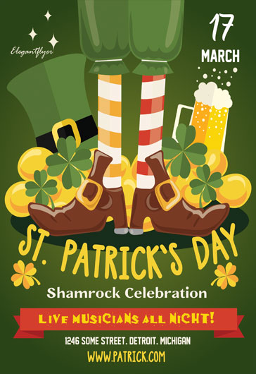 St. Patrick`s Day- Flyer PSD Template