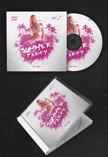 summer party  u2013 free cd cover psd template  u2013 by elegantflyer
